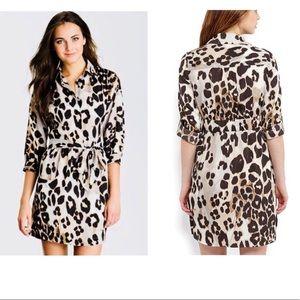 Eliza J leopard cheetah animal print belted dress
